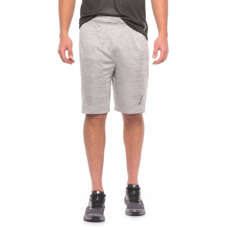 Reebok Cruz Shorts - Slim Fit (For Men) in Grey Heather