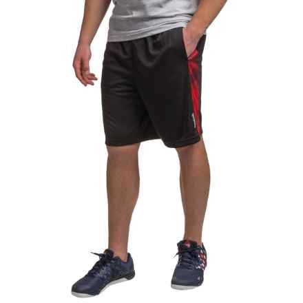 "Reebok Dalek 9"" Shorts (For Men) in Black/Varsity Red - Closeouts"