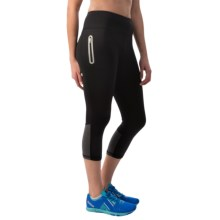 Reebok Dash Capri Leggings (For Women) in Black - Closeouts