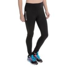 Reebok Dash Leggings - Brushed Interior (For Women) in Black - Closeouts
