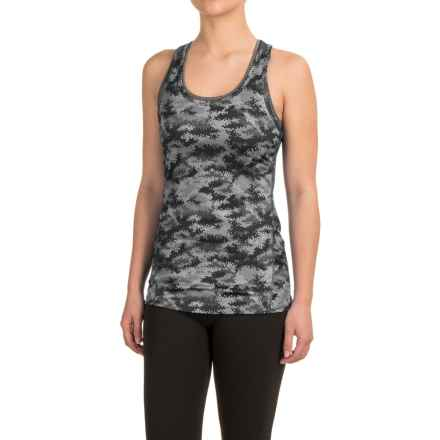 Reebok Datum Renew Printed Tank Top - Mesh Racerback (For Women) in Black - Closeouts
