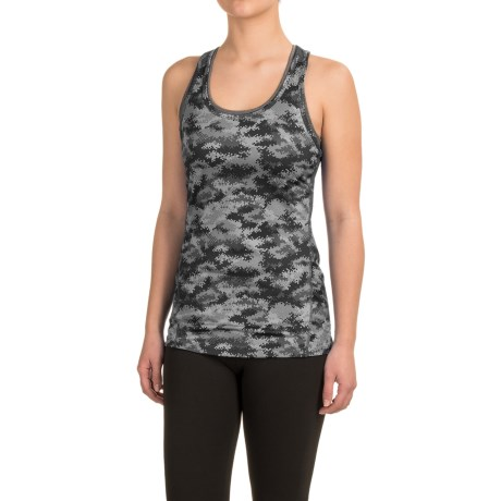 Reebok Datum Renew Printed Tank Top - Mesh Racerback (For Women)