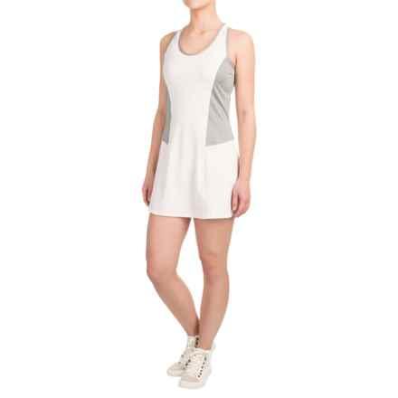 Reebok Definitive Tank Dress - Racerback, Sleeveless (For Women) in Stark White - Closeouts