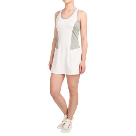 Reebok Definitive Tank Dress - Racerback, Sleeveless (For Women) in Stark White