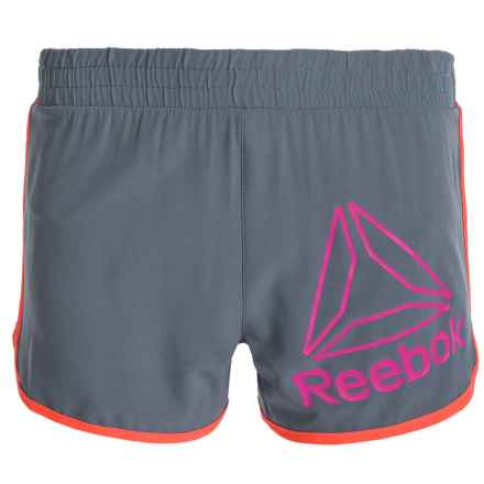Reebok Delta Active Shorts - Built-In Briefs (For Big Girls) in Storm Grey - Closeouts