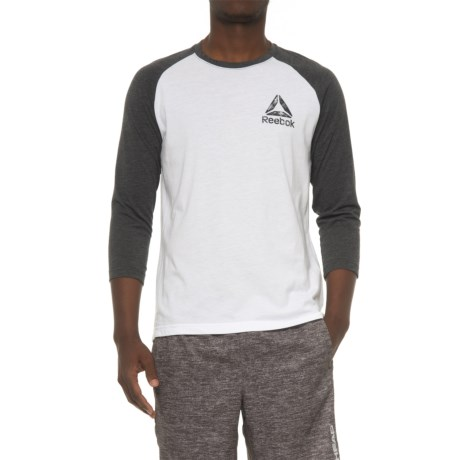 Reebok Delta Baseball T-Shirt - 3/4 Sleeve (For Men) in White/Black