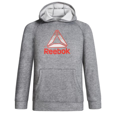Reebok Delta Dot Popover Hoodie (For Boys) in Shark Heather