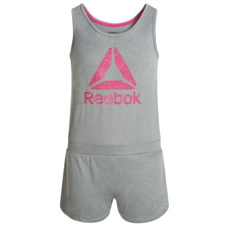 Reebok Delta Romper - Sleeveless (For Big Girls) in Light Grey Heather