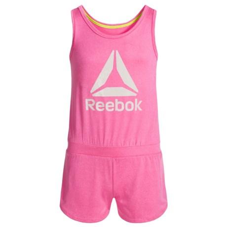 Reebok Delta Romper - Sleeveless (For Little Girls) in Heather Pink