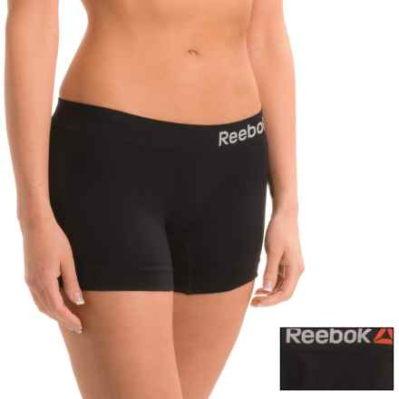 Reebok Delta Seamless Panties - 2-Pack, Boy Short (For Women) in Black/Black - Closeouts