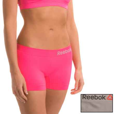 Reebok Delta Seamless Panties - 2-Pack, Boy Short (For Women) in Electric Pink/Iron - Closeouts