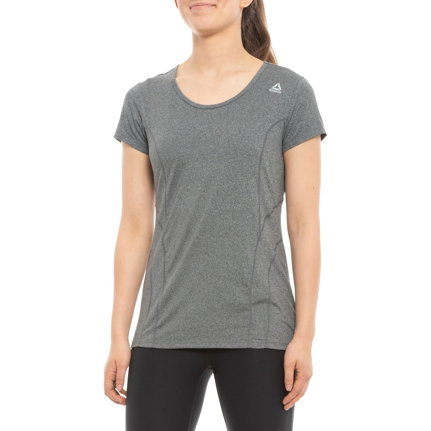 49da69297f5a Reebok Dynamic T-Shirt - Short Sleeve (For Women) in Charcoal Heather ...