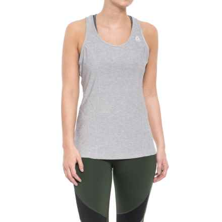 Reebok Dynamic Tank Top - Racerback (For Women) in Silver Sconce Heather - Closeouts
