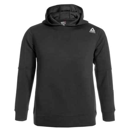 Reebok Elbow Patch Hoodie (For Boys) in Black - Closeouts