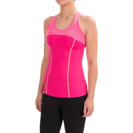 Reebok Electric Tennis Tank Top - Built-In Sports Bra, Racerback (For Women) in Cabaret - Closeouts