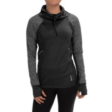 Reebok Elevate Funnel Neck Shirt - Long Sleeve (For Women) in Black Heather - Closeouts