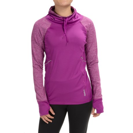 Reebok Elevate Funnel Neck Shirt Long Sleeve (For Women)