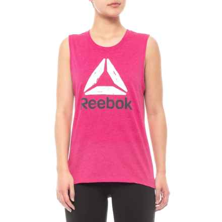 Reebok Essential Delta Tank Top (For Women) in Beetroot Heather