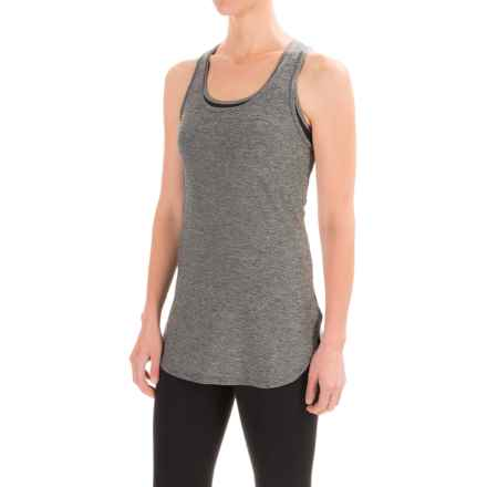 Reebok Fast Legend Singlet Shirt - Racerback, Sleeveless (For Women) in Black Heather - Closeouts