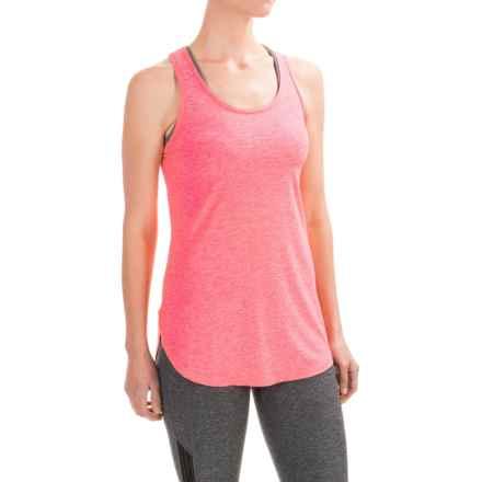 Reebok Fast Legend Singlet Shirt - Racerback, Sleeveless (For Women) in Neon Rose Heather - Closeouts