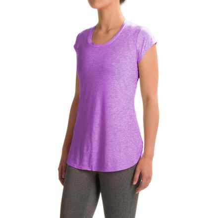 Reebok Fast Legend T-Shirt - Short Sleeve (For Women) in Iris Orchid Heather - Closeouts