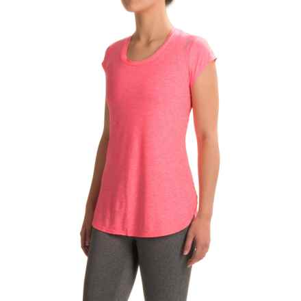 Reebok Fast Legend T-Shirt - Short Sleeve (For Women) in Neon Rose Heather - Closeouts