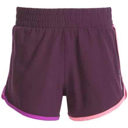 Reebok Favorite Practice Active Shorts (For Big Girls) in Dark Purple - Closeouts