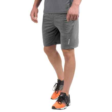 Reebok Fireball Slim Training Shorts (For Men) in Charcoal Heather - Closeouts