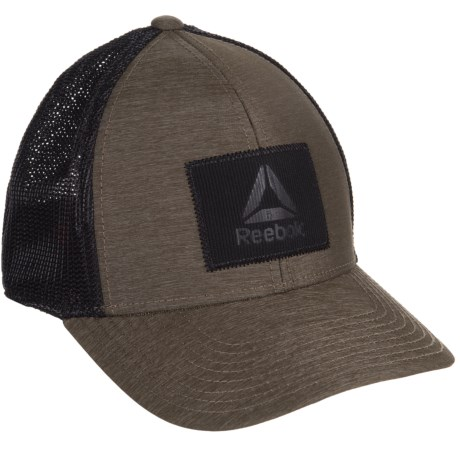 Reebok Flex Trucker Hat (For Men) in Olive/Heather
