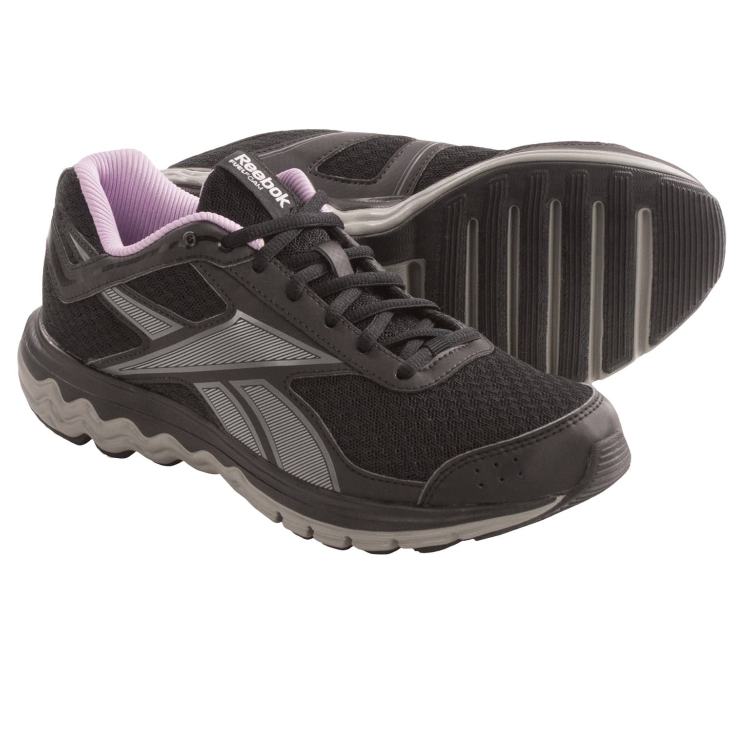 Reebok Fuel Techno 2 Running Shoes (For Women) in Black/Tin Grey