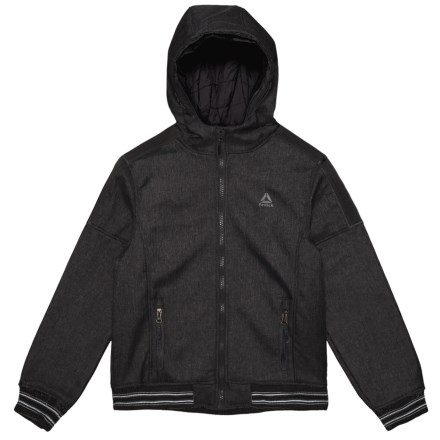 f0a46e5a4dfc Reebok Full-Zip Hooded Jacket - Insulated (For Big Boys) in Black Heather