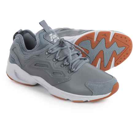 Reebok Fury Adapt Winter Sneakers - Leather (For Men) in Asteroid Dust/White/Cloud - Closeouts