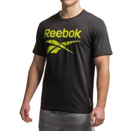 Reebok Geo Camo T-Shirt - Short Sleeve (For Men) in Black - Closeouts