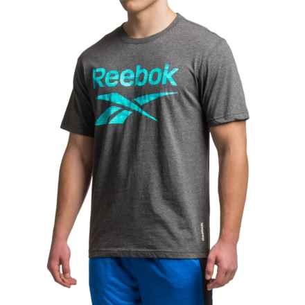 Reebok Geo Camo T-Shirt - Short Sleeve (For Men) in Charcoal Heather - Closeouts