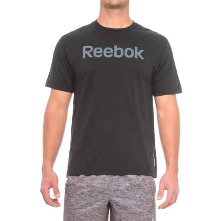Reebok Ghost Logo T-Shirt - Crew Neck, Short Sleeve (For Men) in Black - Closeouts