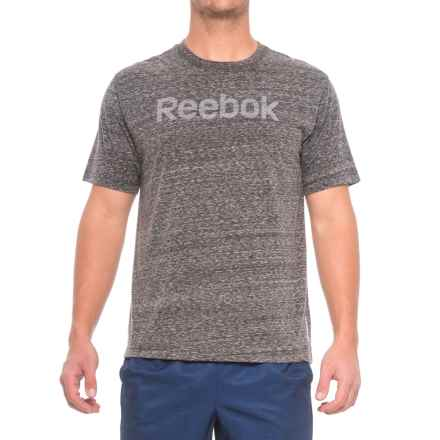 Reebok Ghost Logo T-Shirt - Crew Neck, Short Sleeve (For Men) in Charcoal Heather - Closeouts