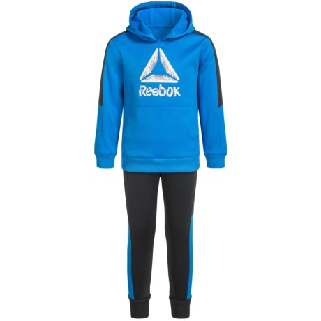 Reebok Grind to Shine Hoodie and Joggers Set - 2-Piece (For Little Boys) in Dynamic Blue