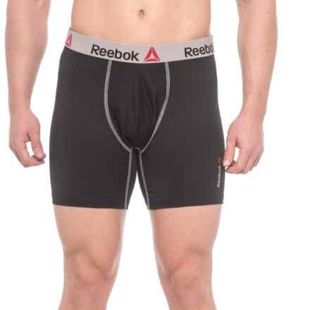reebok underwear. reebok high-performance boxer briefs with fashion waistband (for men) in black - underwear