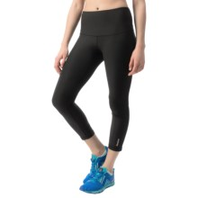 Reebok High-Rise Capris (For Women) in Black - Closeouts