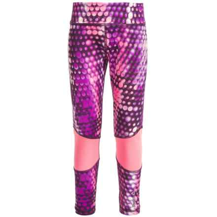 Reebok Hologram Cascade Active Leggings (For Big Girls) in Dark Purple - Closeouts