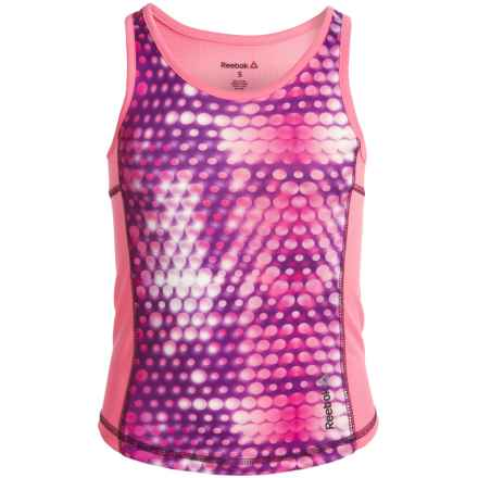 Reebok Hologram Cascade Active Tank Top (For Big Girls) in Blush Pink - Closeouts