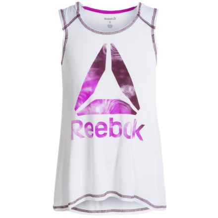 Reebok Hooded Practice Shirt - Sleeveless (For Big Girls) in True White - Closeouts