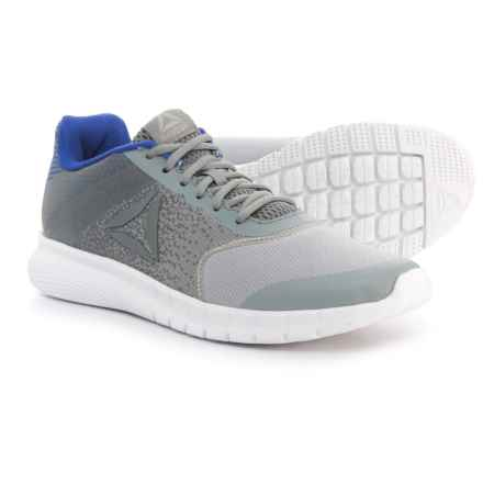 Reebok Instalite Run Running Shoes (For Men) in Cool Shadow/Flint Grey/Acid Blue/White - Closeouts