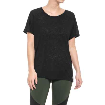 Reebok Journey Shirt - Short Sleeve (For Women) in Black - Closeouts