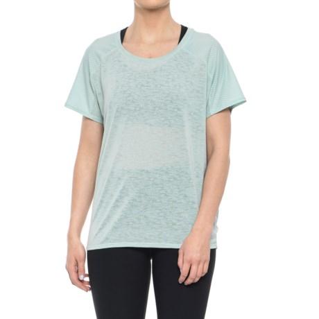 Reebok Journey Shirt - Short Sleeve (For Women) in Gray Mist