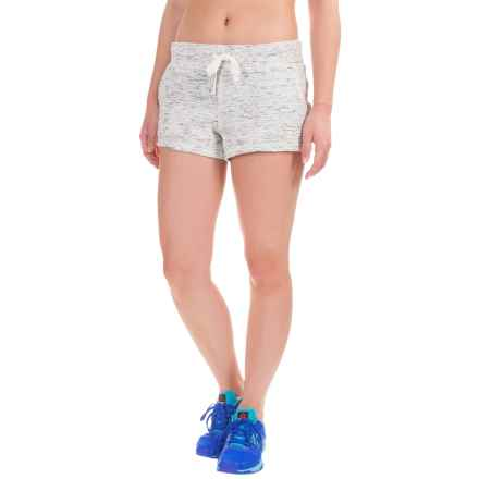 Reebok Live In Shorts (For Women) in Marshmallow/Black - Closeouts