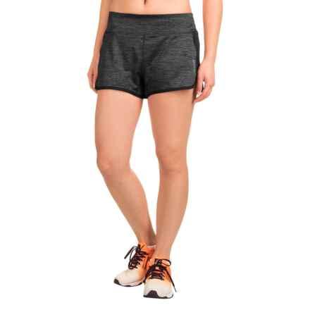 Reebok Marathon Shorts (For Women) in Black Heather - Closeouts