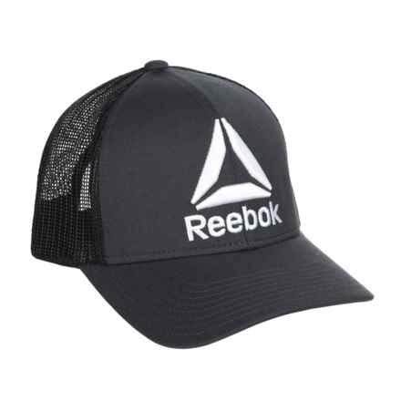 Reebok Mesh Back Trucker Hat (For Men) in Black/Heather - Closeouts