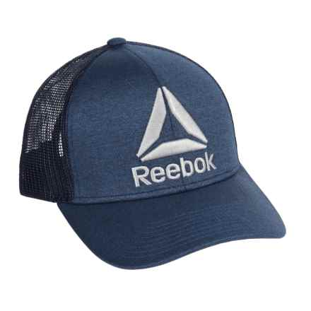 Reebok Mesh Back Trucker Hat (For Men) in Navy/Heather - Closeouts
