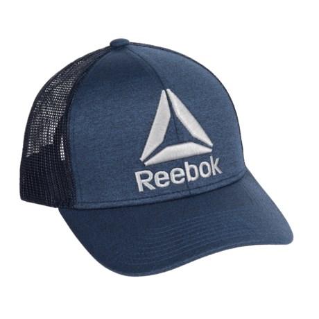 Reebok Mesh Back Trucker Hat (For Men) in Navy/Heather